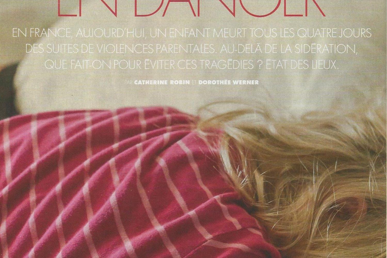 Article de la revue ELLE  du 11/09/20: Violences physiques, sexuelles ou psychologiques sur les enfants.